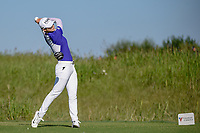 Sung Hyun Park (KOR) watches her tee shot on 8 during round 1 of  the Volunteers of America LPGA Texas Classic, at the Old American Golf Club in The Colony, Texas, USA. 5/5/2018.<br /> Picture: Golffile | Ken Murray<br /> <br /> <br /> All photo usage must carry mandatory copyright credit (&copy; Golffile | Ken Murray)