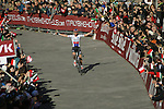 Zdenek Stybar (CZE) Etixx-Quick Step wins the 2015 Strade Bianche Eroica Pro cycle race after 200km over the white gravel roads from San Gimignano to Siena, Tuscany, Italy. 8th March 2015<br /> Photo: Otto de Waele/www.newsfile.ie