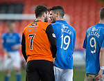 Dundee United v St Johnstone.....21.02.15<br /> Nadir Ciftci and Gary Miller face up to each other<br /> Picture by Graeme Hart.<br /> Copyright Perthshire Picture Agency<br /> Tel: 01738 623350  Mobile: 07990 594431