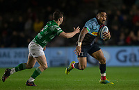 Harlequins' Francis Saili in action during todays match<br /> <br />  Photographer Bob Bradford/CameraSport<br /> <br /> Gallagher Premiership Round 7 - Harlequins v Newcastle Falcons - Friday 16th November 2018 - Twickenham Stoop - London<br /> <br /> World Copyright © 2018 CameraSport. All rights reserved. 43 Linden Ave. Countesthorpe. Leicester. England. LE8 5PG - Tel: +44 (0) 116 277 4147 - admin@camerasport.com - www.camerasport.com