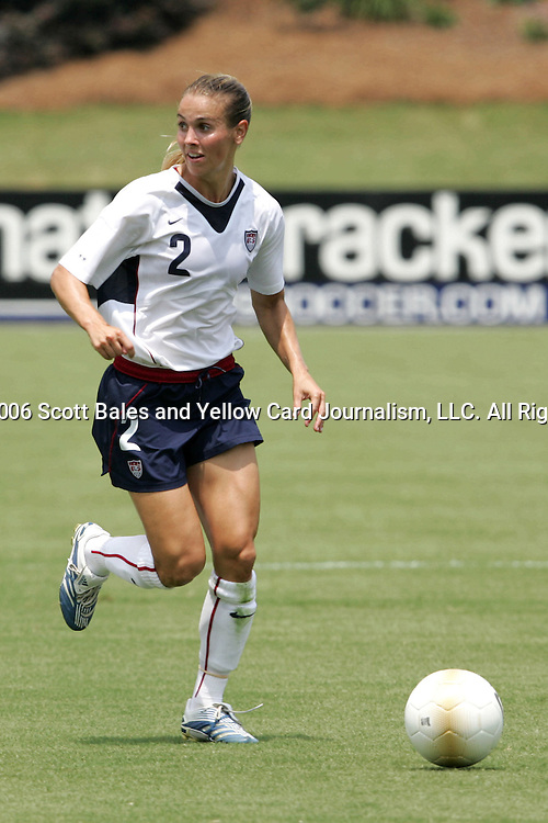 30 July 2006: U.S. defender Heather Mitts. The United States Women's National Team defeated Canada 2-0 at SAS Stadium in Cary, North Carolina, in an International Friendly match.