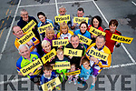 Kerry Cyclists at the launch of the of the Stayin' Alive at 1.5 campaign.included are Johnny, Oisin, Fiona, Sean Óg, Aiobhin, John and Fionán Brosnan, John Murray, Seamus Cotter, Jacinta Keane, Caroline O'Sullivan, Siobhan Kearney, Dave Elton, Mary McCarthy, James McCarthy, Niall Ó Loingsigh, Mena Cahill and Siobhan Clear.