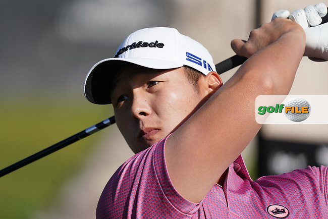 Danny Lee (NZL) In action during the 1st round of The Genesis Invitational, Riviera Country Club, Pacific Palisades, Los Angeles, USA. 12/02/2020<br /> Picture: Golffile | Phil Inglis<br /> <br /> <br /> All photo usage must carry mandatory copyright credit (© Golffile | Phil Inglis)