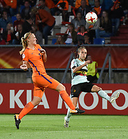 20170724 - TILBURG , NETHERLANDS : Belgian Tessa Wullaert (R) and Dutch Stephanie van der Gragt (L)   pictured during the female soccer game between Belgium and The Netherlands  , the thirth game in group A at the Women's Euro 2017 , European Championship in The Netherlands 2017 , Monday 24 th June 2017 at Stadion Koning Willem II  in Tilburg , The Netherlands PHOTO SPORTPIX.BE | DIRK VUYLSTEKE