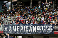 GEORGETOWN, GRAND CAYMAN, CAYMAN ISLANDS - NOVEMBER 19: USA supporters American Outlaws during a game between Cuba and USMNT at Truman Bodden Sports Complex on November 19, 2019 in Georgetown, Grand Cayman.