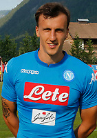 Vlad Chireches  of Napoli during a preseason friendly soccer match against Aunania in Dimaro's Stadium   12 July 2017