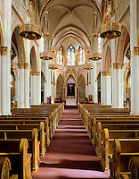 Interior of St. Helena Cathedral in Helena, Montana
