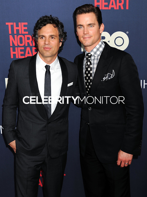 "NEW YORK CITY, NY, USA - MAY 12: Mark Ruffalo, Matt Bomer at the New York Screening Of HBO's ""The Normal Heart"" held at the Ziegfeld Theater on May 12, 2014 in New York City, New York, United States. (Photo by Celebrity Monitor)"