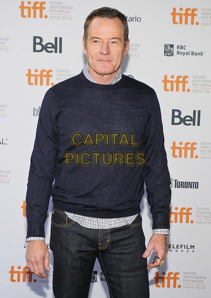 "Bryan Cranston.""American Beauty""  Premiere - 2012 Toronto International Film Festival held at Ryerson Theatre, Toronto, Ontario, Canada..September 6th, 2012.TIFF half length black blue jumper sweater top.CAP/ADM/BPC.©Brent Perniac/AdMedia/Capital Pictures."