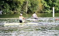 Henley Royal Regatta, Henley on Thames, Oxfordshire, 28 June - 2 July 2017.  Friday  09:26:24   30/06/2017  [Mandatory Credit/Intersport Images]<br /> <br /> Rowing, Henley Reach, Henley Royal Regatta.<br /> <br /> The Diamond Challenge Sculls<br />  J.H. Graves (Craftsbury Sculling Center, U.S.A.) v  J.A. Kirkwood (Leander Club)