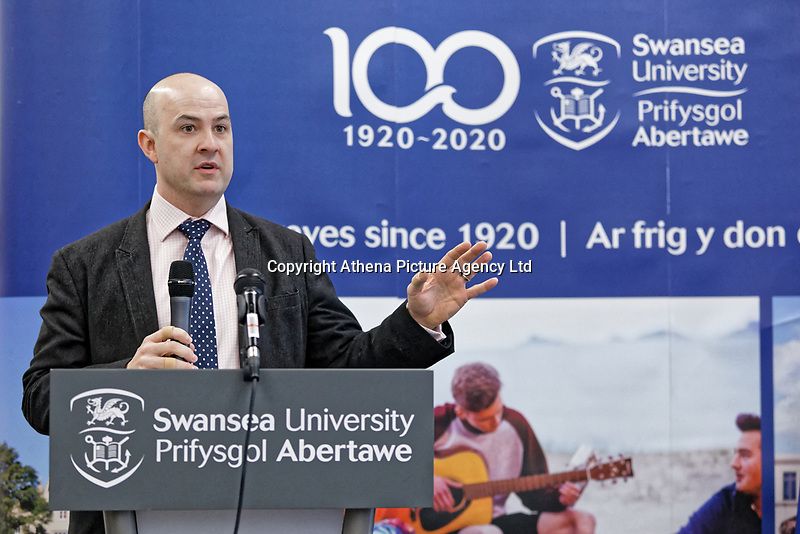 Pictured: Andrew Rhodes, Registrar for Swansea University. Monday 04 February 2019<br /> Re: Opening of the Computational Foundry at the Swansea University Bay Campus, south Wales, UK.