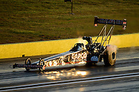 Sept. 21, 2012; Ennis, TX, USA: NHRA top fuel dragster driver Steve Torrence during qualifying for the Fall Nationals at the Texas Motorplex. Mandatory Credit: Mark J. Rebilas-US PRESSWIRE