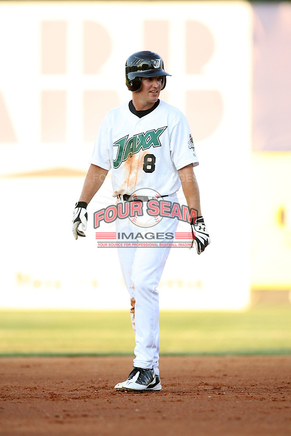 July 2, 2009: West Tennessee Diamond Jaxx infielder David Espinosa (8) at Pringles Park in Jackson, TN. The Diamond Jaxx are the Southern League AA affiliate of the Atlanta Braves. Photo by: Chris Proctor/Four Seam Images