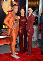"LOS ANGELES, CA. January 30, 2019: Ismael Cruz Cordova, Gina Rodriguez &  Sophia Bush at the world premiere of ""Miss Bala"" at the Regal LA Live.<br /> Picture: Paul Smith/Featureflash"
