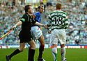 20/08/2005         Copyright Pic : James Stewart.File Name : jspa15 rangers v celtic.THE STANDSIDE LINESMAN STEPS BETWEEN NEIL LENNON AND THOMAS BUFFELL..Payments to :.James Stewart Photo Agency 19 Carronlea Drive, Falkirk. FK2 8DN      Vat Reg No. 607 6932 25.Office     : +44 (0)1324 570906     .Mobile   : +44 (0)7721 416997.Fax         : +44 (0)1324 570906.E-mail  :  jim@jspa.co.uk.If you require further information then contact Jim Stewart on any of the numbers above.........