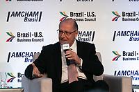 SAO PAULO, SP - 24.07.2018 - ELEI&Ccedil;&Otilde;ES 2018 - O presidenci&aacute;vel, Geraldo Alckmin participa do evento Presidenci&aacute;veis 2018 promovido pela Camara Americana de Com&eacute;rcio (Amcham) na manh&atilde; desta ter&ccedil;a-feira (24) na zona sul de S&atilde;o Paulo.<br /> <br /> (Foto: Fabricio Bomjardim / Brazil Photo Press)