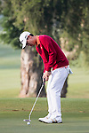 Jazz Janewattananond of Thailand putts on the green at the third hole during the 58th UBS Hong Kong Golf Open as part of the European Tour on 10 December 2016, at the Hong Kong Golf Club, Fanling, Hong Kong, China. Photo by Vivek Prakash / Power Sport Images