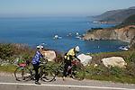 Bicyclists in Big Sur