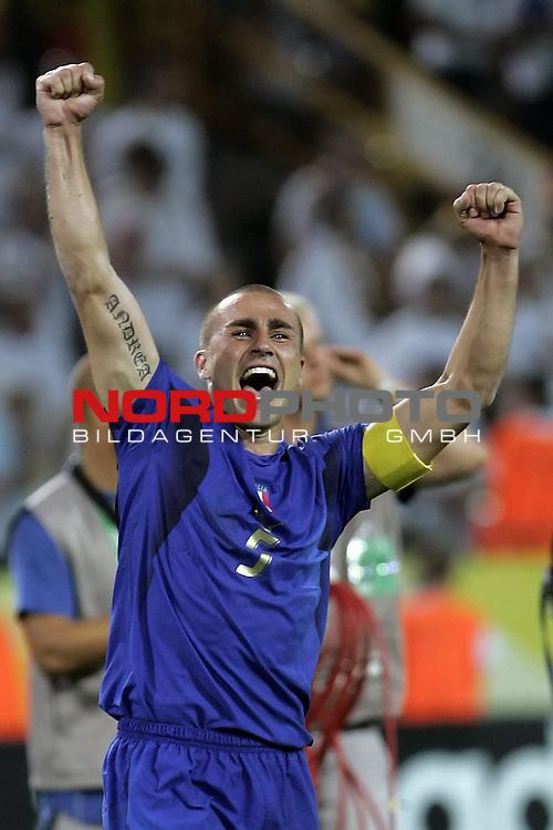 FIFA WM 2006 -  Semi Finals / Halbfinale<br /> Play    #61 (04-Juli) - Deutschland - Italien<br /> <br /> Jubel CANNAVARO<br /> <br /> Foto &copy; nordphoto