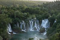 Kravice falls along the Trebizat River, a tributary of the Neretva River. Bosnia-Herzegovina. May 2009.<br /> Elio della Ferrera / Wild Wonders of Europe