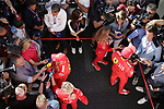 10.05.2019, Circuit de Catalunya, Barcelona, FORMULA 1 EMIRATES GRAN PREMIO DE ESPAÑA 2019<br /> , im Bild<br />Sebastian Vettel (GER#5), Scuderia Ferrari Mission Winnow und Charles Leclerc (MCO#16), Scuderia Ferrari Mission Winnow in der Interviewzone<br /> <br /> Foto © nordphoto / Bratic