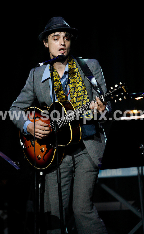 **ALL ROUND PICTURES FROM SOLARPIX.COM**.**WORLDWIDE SYNDICATION RIGHTS**. Jarvis Cocker concert, Melt Down Forest of No Return held last night in the Royal Festival Hall with Pete Doherty,Jarvis Cocker,Grace Jones in her latest fashion wear and Nick Cave together with Shane MacGowan held on the 16_06_07..This pic:PETE DOHERTY.JOB REF: 4089- SSD     DATE:16_06_07.**MUST CREDIT SOLARPIX.COM OR DOUBLE FEE WILL BE CHARGED* *UNDER NO CIRCUMSTANCES IS THIS IMAGE TO BE REPRODUCED FOR ANY ONLINE EDITION WITHOUT PRIOR PERMISSION*
