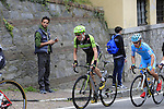 The lead group of riders including Dan Martin (IRL) Cannondale-Garmin tackle the final climb of Superga near the finish of the 2015 96th Milan-Turin 186km race starting at San Giuliano Milanese, Italy. 1st October 2015.<br /> Picture: Eoin Clarke | Newsfile