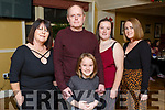 James Hayes from Mountain Close, Tralee celebrating his birthday with his family in the Brogue Inn on Sunday evening. L to r: Bernie, James, Sarah, Rachel and Kelly Hayes.