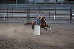 Barrel Racing, Montrose Fairgrounds, Friday Aug. 1, 2014  in Montrose, CO. Photo by Mark Mahan