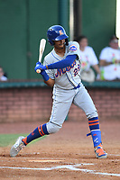 Kingsport Mets Sebastian Espino (29) at bat during a game against the Elizabethton Twins at Northeast Community Credit Union Ballpark on July 5, 2019 in Elizabethton, Tennessee. The Twins defeated the Mets 7-1. (Tracy Proffitt/Four Seam Images)