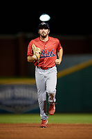 Peoria Chiefs center fielder Justin Toerner (39) jogs back to the dugout during a game against the Bowling Green Hot Rods on September 15, 2018 at Bowling Green Ballpark in Bowling Green, Kentucky.  Bowling Green defeated Peoria 6-1.  (Mike Janes/Four Seam Images)