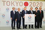 (L to R) Toshiyuki Akiyama, Toshiro Muto, Yoshiro Mori . Tsunekazu Takeda, Hakubun Shimomura, Mitsunori Torihara, JANUARY 24, 2014 : Tokyo Organising Committeee of the Olympic and Paralympic Games member attend press conference in Tokyo, Japan. The Tokyo Organising Committee of the Olympic and Paralympic Games (Tokyo 2020) was formally established today and will be headed by former Prime Minister of japan Yoshiro Mori.  Photo by Yusuke Nakansihi/AFLO SPORT) [1090]