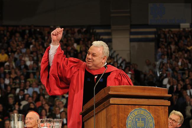 Dean Joseph Marino at the 2008 commencement..Photo by Joe Raymond
