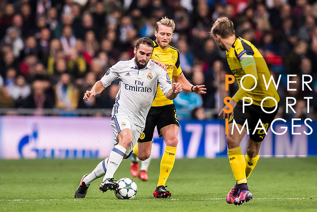 Daniel Carvajal Ramos of Real Madrid in action during the 2016-17 UEFA Champions League match between Real Madrid and Borussia Dortmund at the Santiago Bernabeu Stadium on 07 December 2016 in Madrid, Spain. Photo by Diego Gonzalez Souto / Power Sport Images