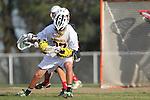 Palos Verdes, CA 03/30/10 - Sean Wilson (Peninsula #27) in action during the Palos Verdes-Peninsula JV Boys Lacrosse game.