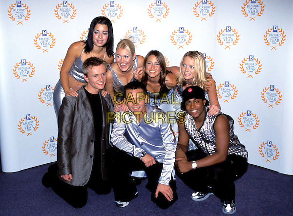 S CLUB 7.Ref: 9195/1112i.coordinating outfits, costumes, silver, group, music, half length, half-length.www.capitalpictures.com.sales@capitalpictures.com.©Capital Pictures