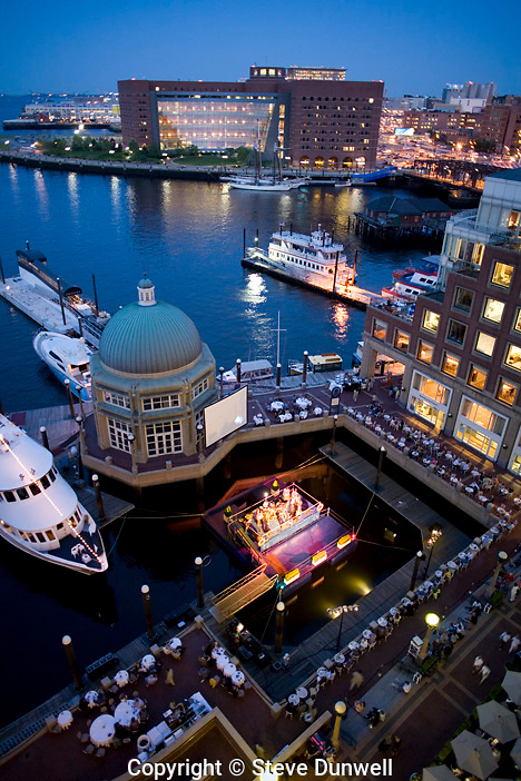concert at Blues Barge, Rowes Wharf, Boston, MA