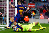 7th January 2018, Camp Nou, Barcelona, Spain; La Liga football, Barcelona versus Levante; Iniesta sees his attempt on goal thwarted by goalkeeper Oier