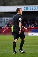 Referee Antony Coggins during Crawley Town vs Morecambe, Sky Bet EFL League 2 Football at Broadfield Stadium on 16th November 2019