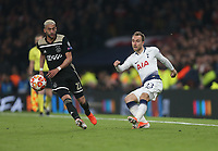 Tottenham Hotspur's Christian Eriksen and Hakim Ziyech of Ajax<br /> <br /> Photographer Rob Newell/CameraSport<br /> <br /> UEFA Champions League - Tottenham Hotspur v Ajax - Tuesday 30th April 2019 - White Hart Lane - London<br />  <br /> World Copyright © 2018 CameraSport. All rights reserved. 43 Linden Ave. Countesthorpe. Leicester. England. LE8 5PG - Tel: +44 (0) 116 277 4147 - admin@camerasport.com - www.camerasport.com