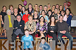 50TH BEST WISHES: Teresa Roche, Ballinorig (seated centre), having a wonderful time with friends and family at her 50th birthday party held in the Abbey Gate Hotel on Saturday night.   Copyright Kerry's Eye 2008