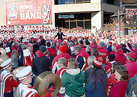 Michael Leckrone and the UW Marching Band UW entertain the Homecoming crowd on Saturday, October 17, 2015 at the University of Wisconsin in Madison, Wisconsin
