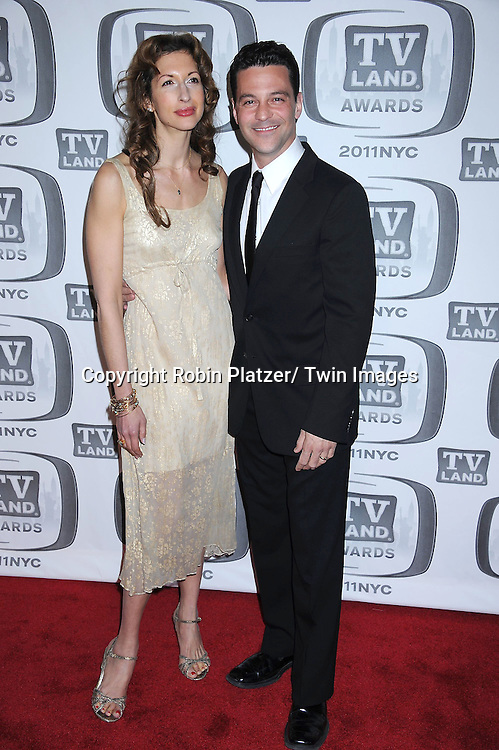 Alysia Reiner and husband David Alan Bashe attending The TV Land Awards 2011 .on April 10, 2011 at the Jacob Javits Center in New York City.