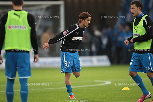 Takashi Usami (Hoffenheim),.FEBRUARY 17, 2013 - Football / Soccer :.Takashi Usami of Hoffenheim warms up before the Bundesliga match between TSG 1899 Hoffenheim 0-1 VfB Stuttgart at Rhein-Neckar-Arena in Sinsheim, Germany. (Photo by AFLO)