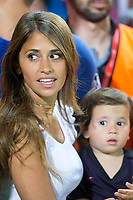 Leo Messi wife, Antonella Roccuzzo  and his son, Thiago Messi during the match of  Copa del Rey (King's Cup) Final between Deportivo Alaves and FC Barcelona at Vicente Calderon Stadium in Madrid, May 27, 2017. Spain.. (ALTERPHOTOS/Rodrigo Jimenez) /NortePhoto.com