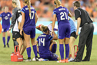 Houston, TX - Saturday Sept. 03, 2016: Dani Weatherholt, Becky Edwards, Monica Hickman Alves during a regular season National Women's Soccer League (NWSL) match between the Houston Dash and the Orlando Pride at BBVA Compass Stadium.