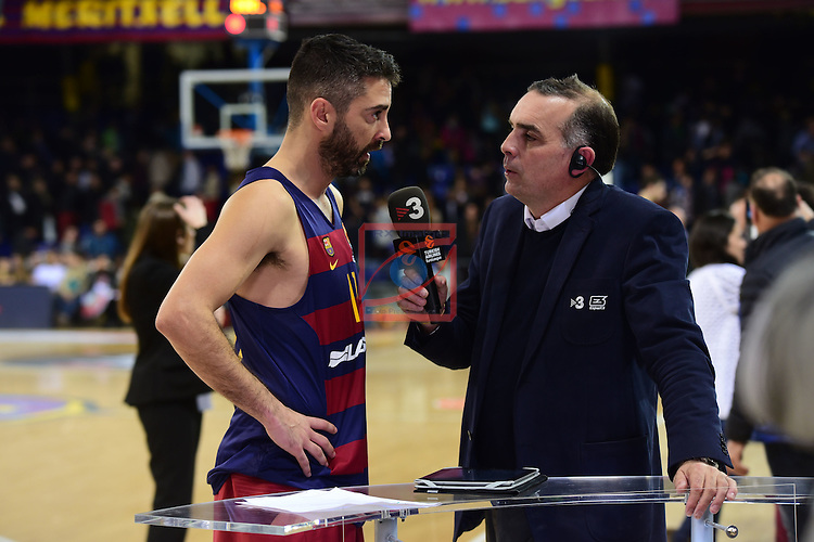 Turkish Airlines Euroleague 2016/2017.<br /> Regular Season - Round 15.<br /> FC Barcelona Lassa vs Darussafaka Dogus Istanbul: 81-77.<br /> Juan Carlos Navarro &amp; Victor Lavagnini.