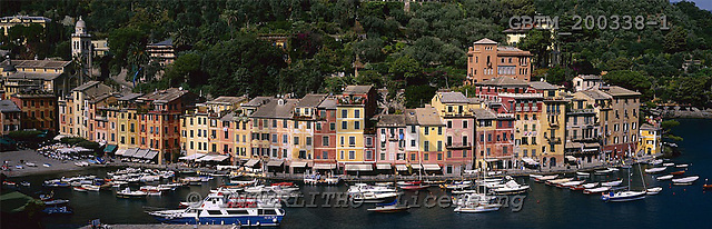 Tom Mackie, LANDSCAPES, panoramic, photos, View over Portofino, Liguria, Italy, GBTM200338-1,#L#