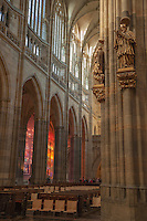 St. Vitus Cathedral originally started in 1344 was finally completed in 1929.