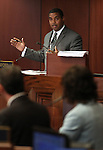 Nevada Senate Majority Leader Steven Horsford, D-Las Vegas, questions state budget director Andrew Clinger and the governor's Chief of Staff Heidi Gansert on Friday, April 22, 2011, at the Legislature in Carson City, Nev. .Photo by Cathleen Allison